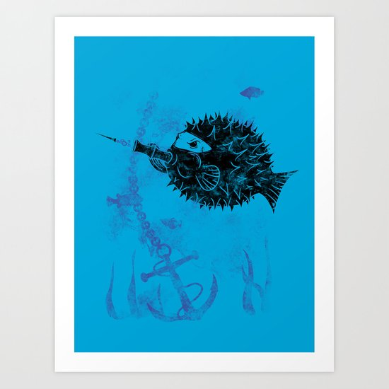 Blowgun Fish Art Print