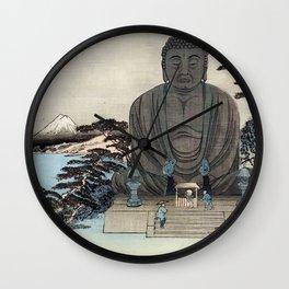 Ukiyo-e, Ando Hiroshige, KAMAKURA DAIBUTSU Wall Clock