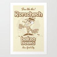 rorschach Art Prints featuring Rorschach by Giovanni Costa