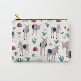 Camping Donkeys Carry-All Pouch