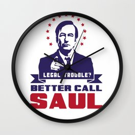Legal Trouble - Better Call Saul Wall Clock