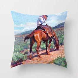 The Day Herder - William Herbert Dunton Throw Pillow