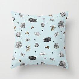 Birds of a Flower Throw Pillow