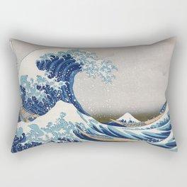 Under the Wave off Kanagawa Japanese Art Rectangular Pillow