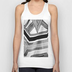 Modern Zebra Abstract Unisex Tank Top