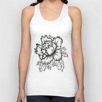 peony Tank Tops featuring Peony by Emma Heller