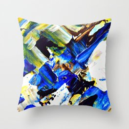 Blue Intersections Throw Pillow