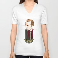 hannibal V-neck T-shirts featuring Hannibal by Caeruls