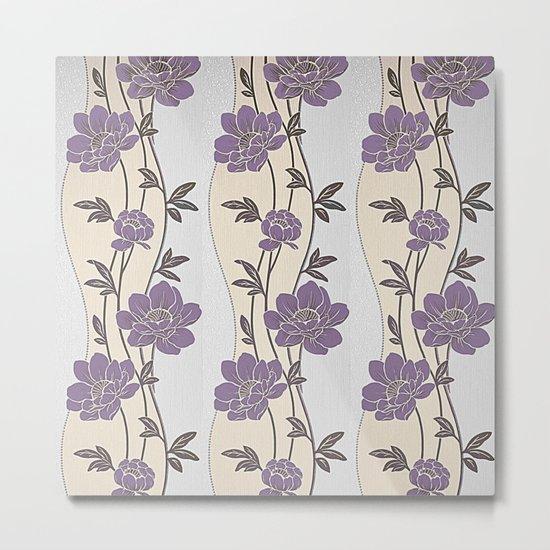 Purple Flower Garland Metal Print