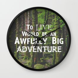 Peter Pan and Forrest Lands Wall Clock