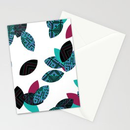 Aztec leafs Ioo Stationery Cards