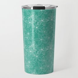 Floral Freeze Mint Travel Mug
