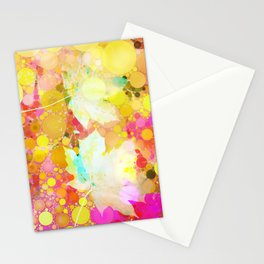 Dancing leaves Stationery Cards