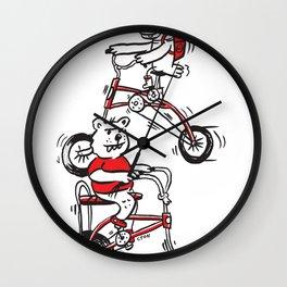 Boots Raingear & Norbert Bear Easy Rider Wall Clock