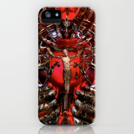 Technological Crucifixion iPhone Case