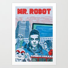 Mr. Robot Art Print