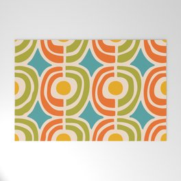 Mid Century Modern Solar Flares Pattern 2 Welcome Mat