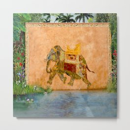"""Decorated Elephant Wall from """"Life of Pi"""" Movie Metal Print"""