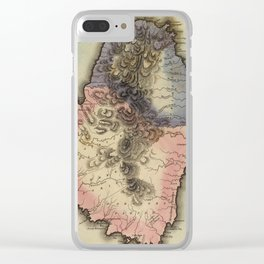 Vintage St Vincent Island Map (1823) Clear iPhone Case