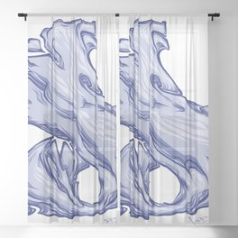 The Letter D is Dope!  Sheer Curtain