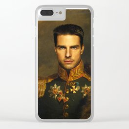 Tom Cruise - replaceface Clear iPhone Case