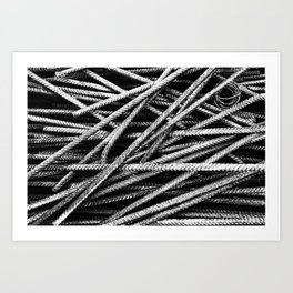 Rebar And Spring - Industrial Abstract Art Print