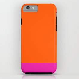 Orange & Pretty in Pink iPhone Case