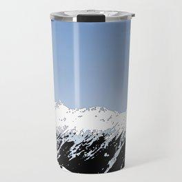 Mountains essentials - Snow and bright sky Travel Mug
