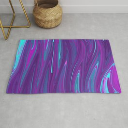 Pink, Purple, and Blue Waves 2 Rug