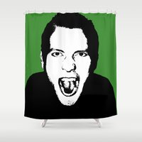 scream Shower Curtains featuring Scream by Jono Williams