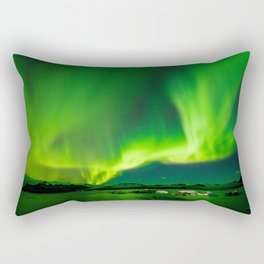 Iceland Northern Lights Rectangular Pillow