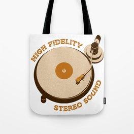 High Fidelity - Stereo Sound Tote Bag