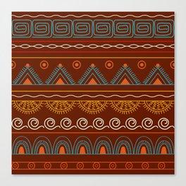 tribal pattern  vinous Canvas Print