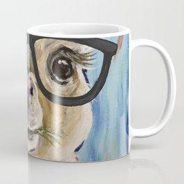 Cute Alpaca With Glasses Coffee Mug