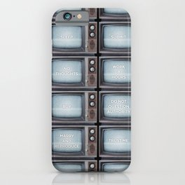 They Live TV Messages iPhone Case