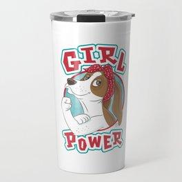 Basset Hound Girl Power Travel Mug