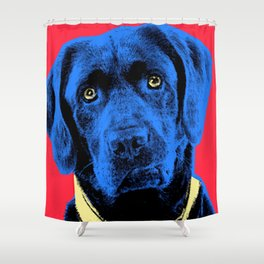 Dog Gone it!   Life is Short.   Art by Robert Poster Print Shower Curtain