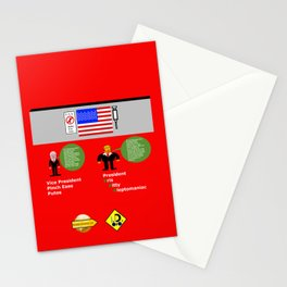 President KKK looks at Mexico Wall Stationery Cards