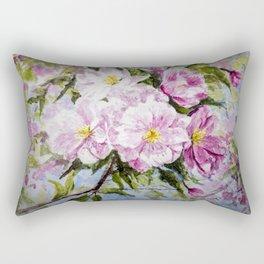 Apple Flowers Blooming Rectangular Pillow