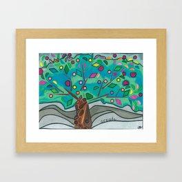 GeomeTree Framed Art Print