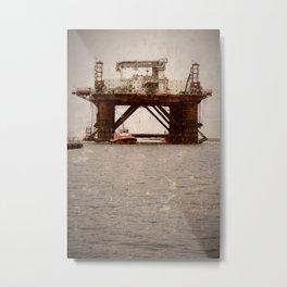 Safe Scandinavia oil rig 3 Metal Print