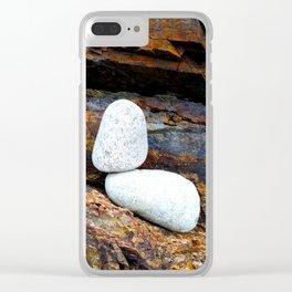 Rocks on Rocks Clear iPhone Case