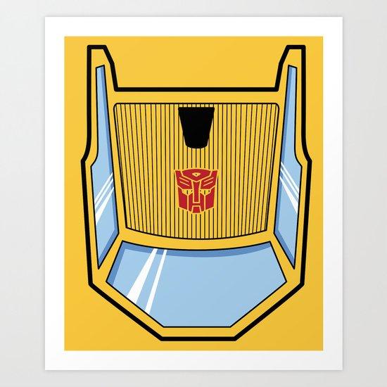 Transformers - Sunstreaker Art Print