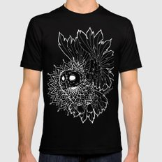 Space Owl Mens Fitted Tee Black 2X-LARGE