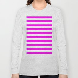 Stripes (Magenta & White Pattern) Long Sleeve T-shirt