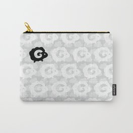 Black Sheep Pattern Carry-All Pouch