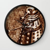 dalek Wall Clocks featuring Dalek by Redeemed Ink by - Kagan Masters