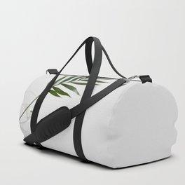 Minimalist Mid Century Modern Scandinavian Palm Leaf In Clear Glass Duffle Bag