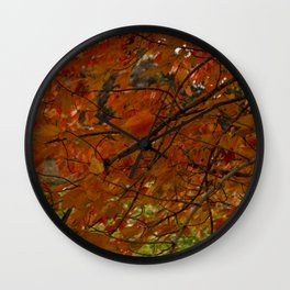 Red Maple 2017 Wall Clock