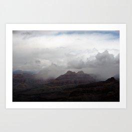 Dark Clouds over Grand Canyon Art Print